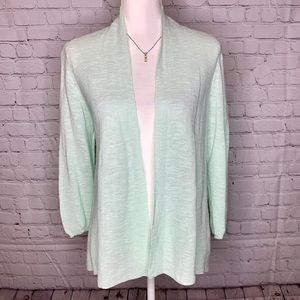 Eileen Fisher Organic Cotton Linen Cardigan Small